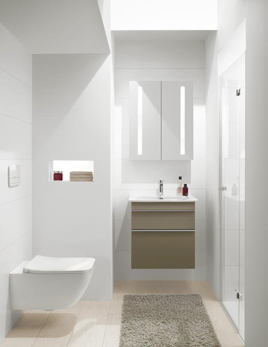 Kleines Bad ganz groß: Fliesen für kleine Bäder | Fliesen Bruère